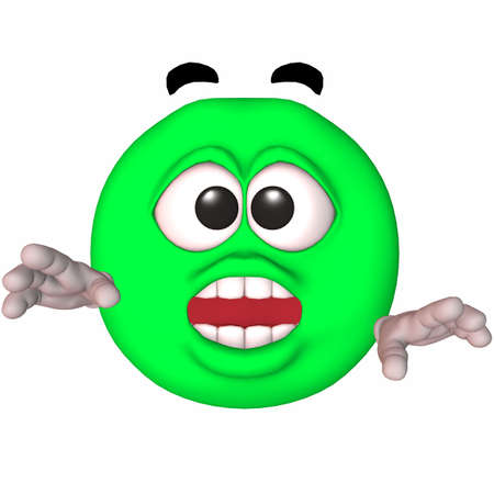 3D Render of an Toon Smiley Stock Photo - 3622737
