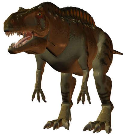 caudal: 3D Render of an Acrocanthosaurus-3D Dinosaur