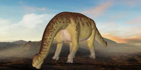caudal: 3D Render of an Camarasaurus-3D Dinosaur Stock Photo