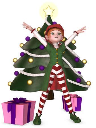 3D Render of an Christmas Elf