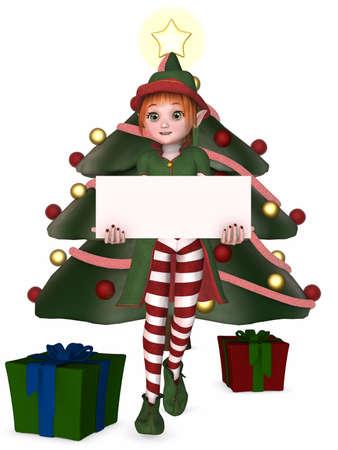faerie: 3D Render of an Christmas Elf