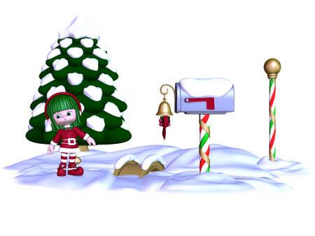 Cute Christmas Elf photo