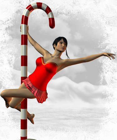 3 D Render of Sexy North Pole Dance Stok Fotoğraf - 3735863