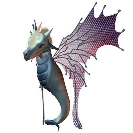 faerie: Fantasy Faerie Dragon Stock Photo