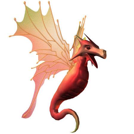 Fantasy Faerie Dragon Stock Photo