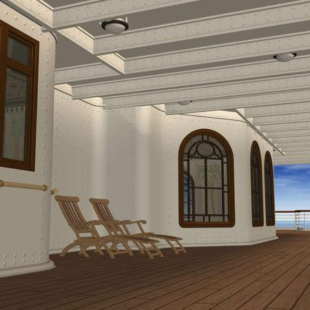 promenade: Cruise Ship Promenade Deck