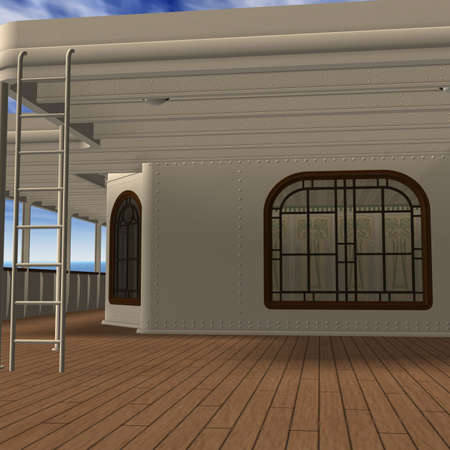 cruising: Cruise Ship Promenade Deck