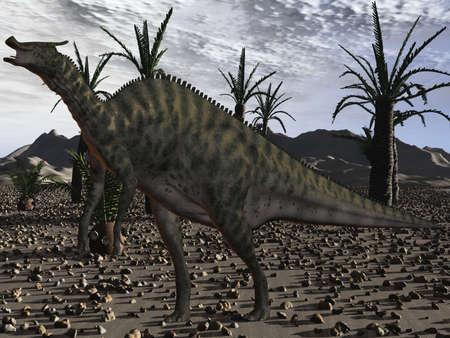 caudal: Saurolophus Angustirostris-3D Dinosaur