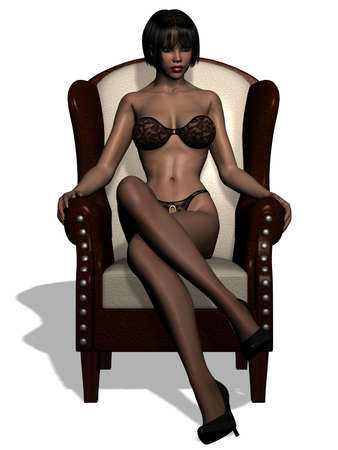 Belle donne in lingerie Archivio Fotografico - 3795343