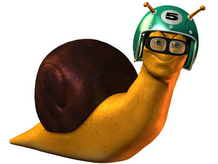 slink: Toon Racing Snail Stock Photo
