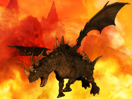 extinction: Fantasy Dragon Stock Photo