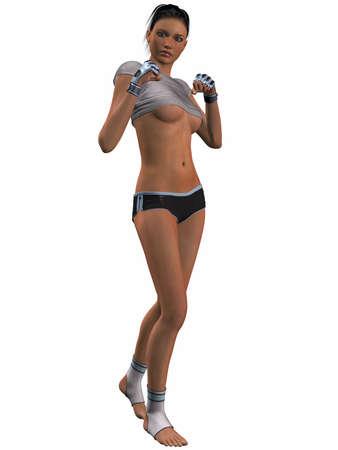 Sexy Kick Boxing Poses