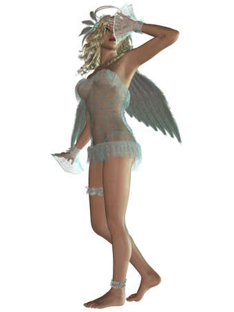 sexy angel: 3 D Render of an Sexy Angel