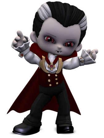 vamp: Little Vamp - Toon Figure Stock Photo