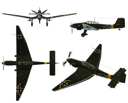 bomber: JU87D Stuka - Dive bomber from the World War II