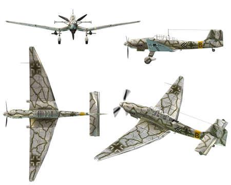 world war ii: JU87D Stuka - Dive bomber from the World War II