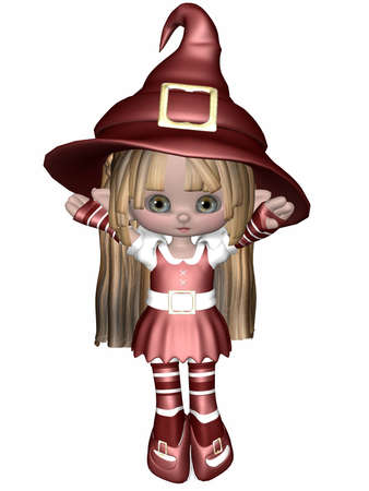 faerie: Little Elf - Toon Figure Stock Photo