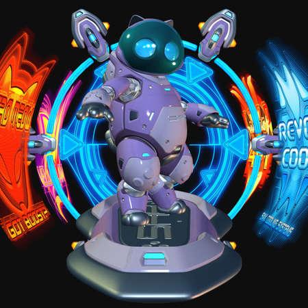 Toon Robot Stock Photo - 3955314