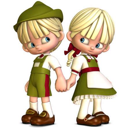 manga style: Little Friends-Toon Figures