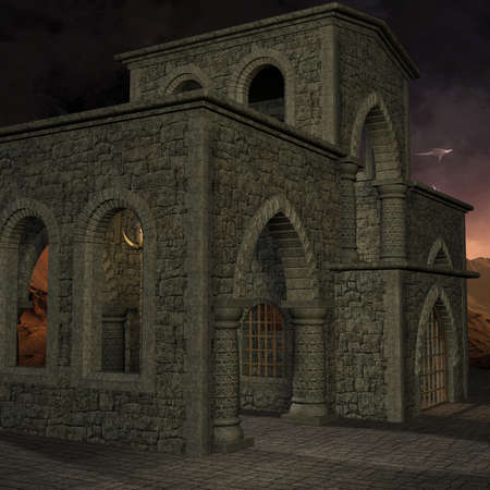 tomb: 3 D Render of an Mystic Place