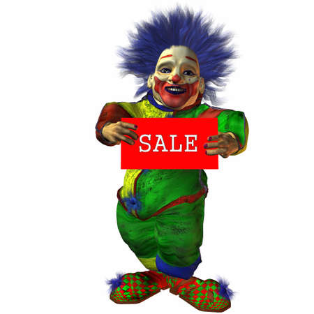 representatives: 3D Figure With Sale Sign