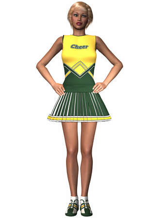 junior high: Cheerleader
