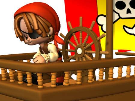 buccaneer: Little Pirate - Toon Figure