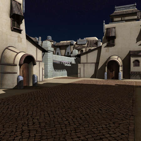 city alley: Ancient City Stock Photo