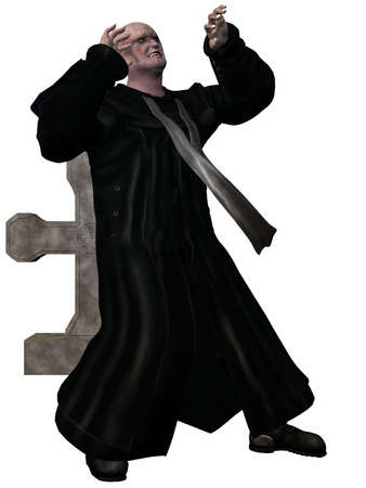 3d vampire: Vampire - 3D Figure Stock Photo