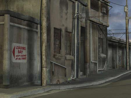 city alley: 3 D Render of an City Street