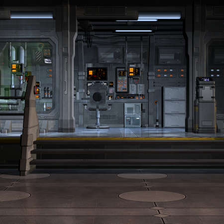 Space Station-Inside Banque d'images