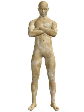 troy: Male Stone Statue
