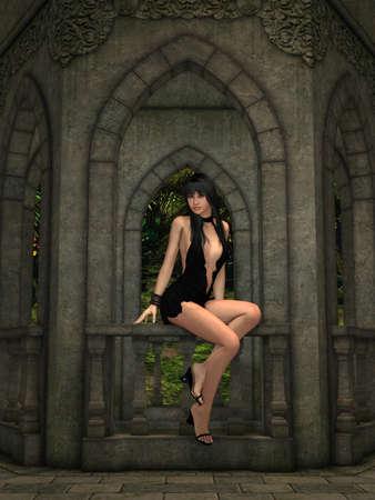tomb: Romantic Place Stock Photo