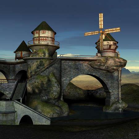 Fantasy Castle Stock Photo - 4199798