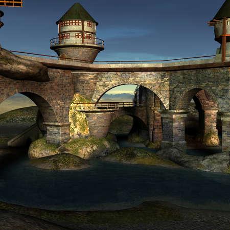 Fantasy Castle Stock Photo - 4199807
