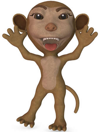 Toon Monkey Stock Photo - 4199814