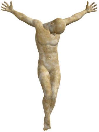 homer: Male Stone Statue