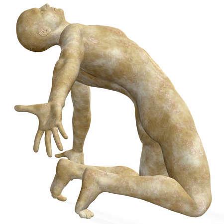 romanesque: Male Stone Statue