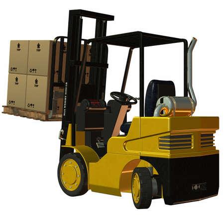 Forklift Stock Photo - 4218546