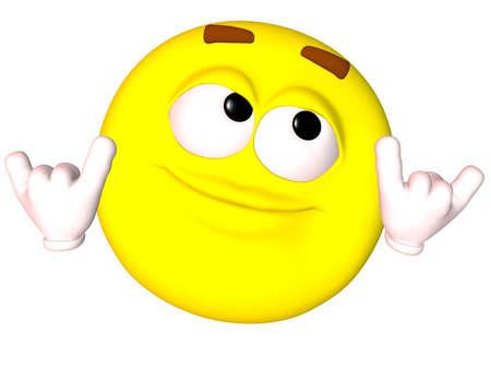 stupid: Smiley 3D Stock Photo
