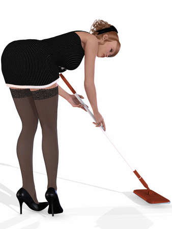 Sexy Housemaid photo