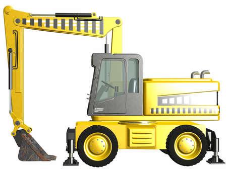 Wheel Excavator Stock Photo - 4519504