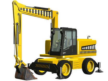 Wheel Excavator Stock Photo - 4519505