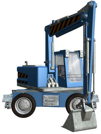 fourwheeldrive: Wheel Excavator