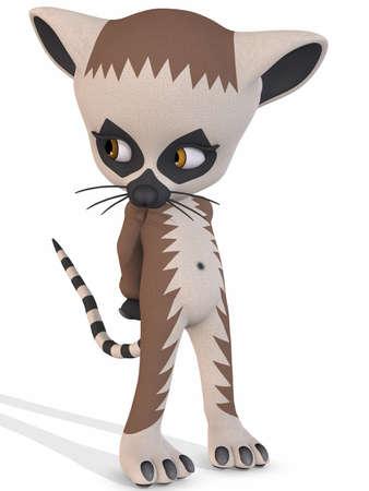 lemur: Cute Lemur - Toon Figure Stock Photo