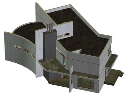 upscale: Modern House Stock Photo