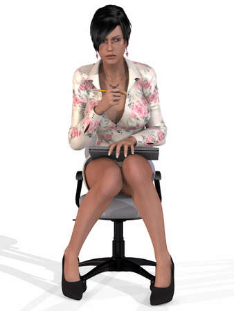 sexy skirt: Sexy Secretary