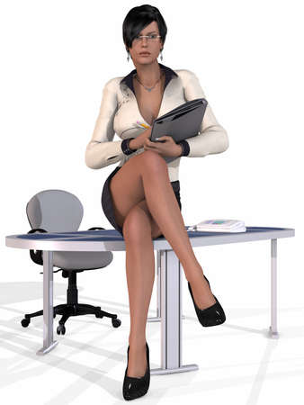 sexy girl posing: Sexy Secretary