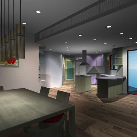 Modern House-Kitchen photo