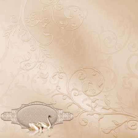 Elegant Card with a beautiful Wedding Design Stock Photo - 4771495